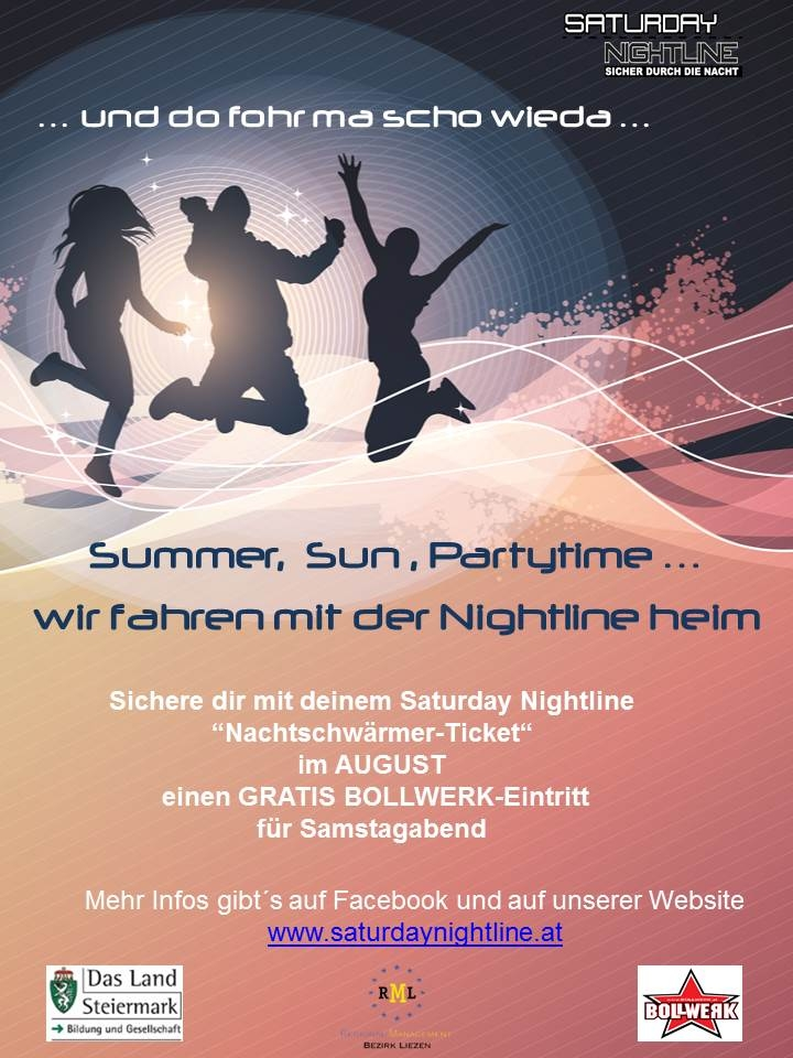 Saturday Nightline – Sommeraktion 2015
