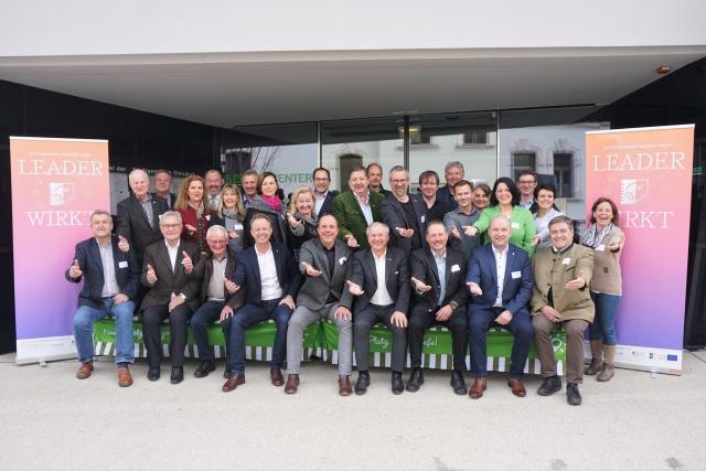 Die Obleute und GeschäftsführerInnen der steirischen LEADER-Aktionsgruppen (LAGs)