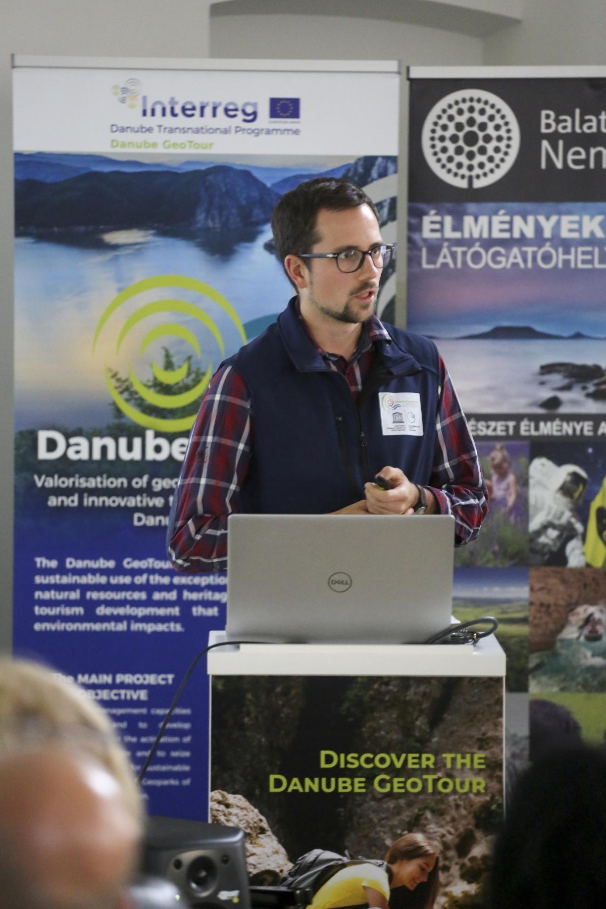 Oliver Gulas, Projektmanager Natur- und Geopark, präsentierte die erreichten Projektziele für die Steirische Eisenwurzen
