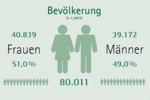 Die Region Liezen in Zahlen
